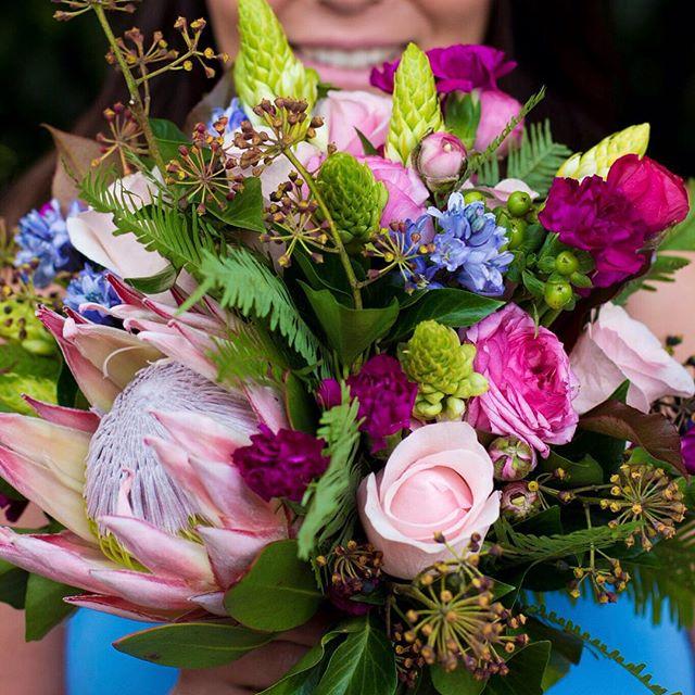 Spring bouquet featuring Native Australian Umbrella Fern