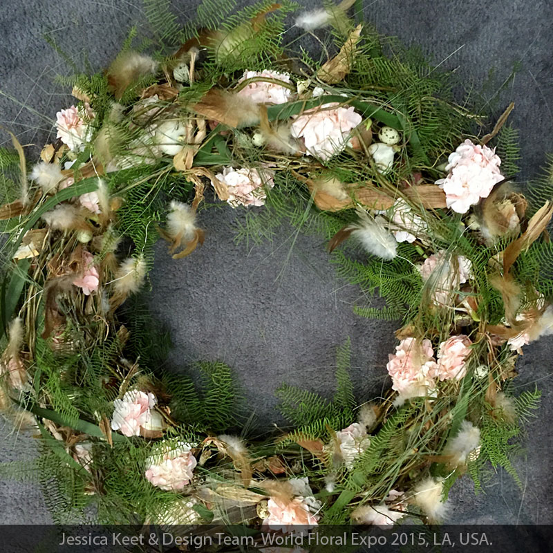 Use our native ferns and fillers to create biodegradable eco wreaths