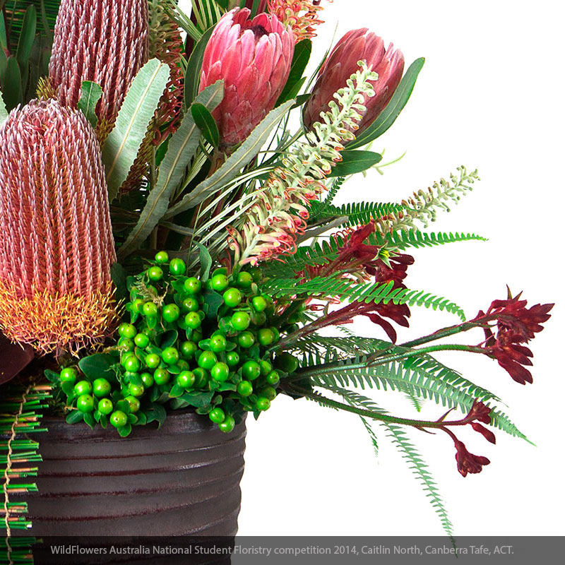 Detailed view of Plantation Umbrella Fern within an arrangement.