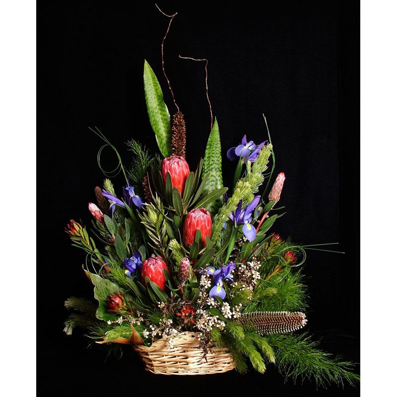 Mixed flower arrangement using Premium Greens Australia products.