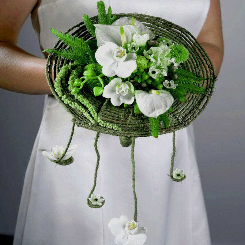 Umbrella Fern used in a rustic wedding bouquet