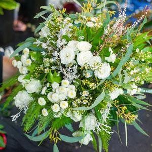 Vintage Wedding Bouquet featuring Umbrella Fern, Koala Fern and Seeded Jarrah