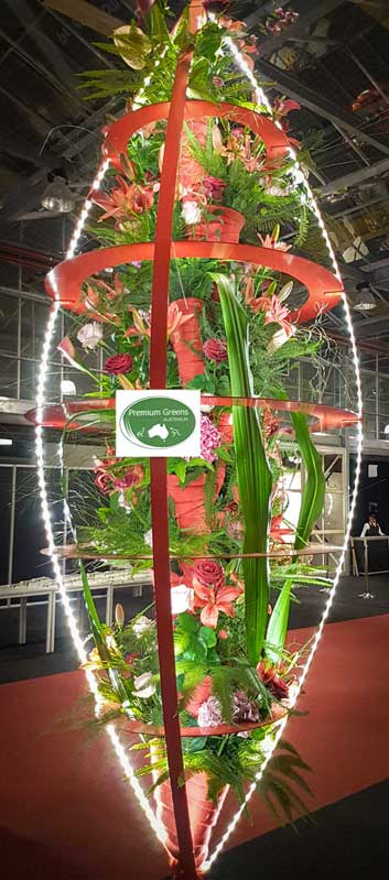 Australian native foliage featured in floral pod