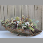 ARRANGEMENT ~ Designer : Susan Day, Wildflowers Australia competition : banksia, tetragona nuts, woolly bush, kangaroo paw