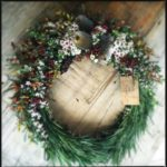 WREATH ~ Designer : Leyla Nassif, Wildflowers Australia competition ~ Foliage & Flowers : Emu Grass™, waxflower, banksia, nutty gum