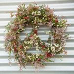 WREATH ~ Designer : Megan Rowland, Wildflowers Australia competition ~ Flowers : thryptomene, waxflower