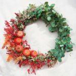 WREATH ~ Designer : Claire McMillan, Wildflowers Australia competition ~ Flowers & Foliage: eucalyptus, thryptomene, grevillea, kangaroo paw, Banksia coccinea,