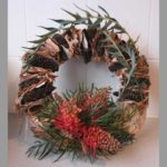 WREATH~ Designer: Jessica Brown, Wildflowers Australia competition ~ Flowers & Foliage: grevillea, banksia pods, paperbark