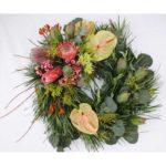 WREATH ~ Designer : Nicola Siew Wan Chen, Wildflowers Australia competition ~ Foliage & Flowers : Emu Grass™, gum, protea, berzelia, waxflower, kangaroo paw, banksia