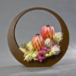 ARRANGEMENT ~ Designer : Verity Meager, Wildflowers Australia competition ~ Flowers : protea, serruria, waxflower