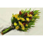 SHEAF BOUQUET ~ Designer : Jenelle Shearing, Wildflowers Australia competition ~ Flowers : leucadendron