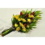 SHEAF BOUQUET ~ Designer : Jenelle Shearing, Wildflowers Australia competition ~ Flowers : leucadendron