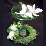 COCKTAIL GLASS ~ Foliage : Aussie Typha™, woolly bush, matuka silver