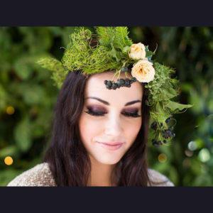 FLOWER CROWN ~ Designer : Julia Rose ~ Foliage : Goanna Claw™, Umbrella Fern™