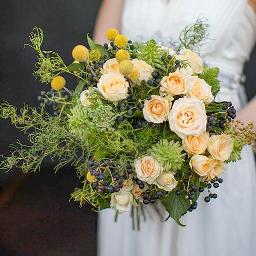 Bridal Bouquet features native Australian foliage, Goanna Claw Fern