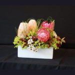 ARRANGEMENT ~ Designer : Heidi Bertram, Wildflowers Australia competition ~ Flowers & Foliage : protea, banksia, berzelia, Flexi Grass™
