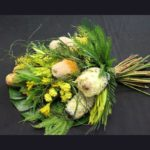 BOUQUET ~ Designer : Stella Magalhaes, Wildflowers Australia competition ~ Flowers & Foliage : Banksia, protea, yellow bells, Umbrella Fern™