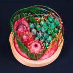 ARRANGEMENT ~ Designer : Mian Er Voon ~ Foliage & Flowers : Steel Grass, protea, leucadendron