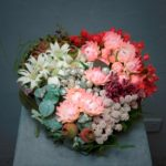 ARRANGEMENT ~ Designer : Sharon Keeler, Wildflowers Australia competition ~ Flowers : tetragona nuts, kangaroo paw