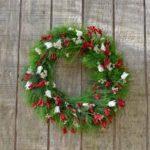 WREATH ~ Designer : Premium Greens Australia ~ Foliage : Bribie Pine, kangaroo paw, blushing bride, rice flower