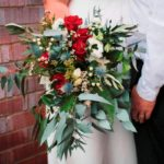 BOUQUET ~ Designer: Lola Blackie ~ Flowers & Foliage: waxflower, berzelia, gum, Umbrella Fern™